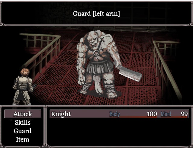 Targeting limbs in Fear & Hunger's turn based combat